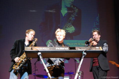 Brian Culbertson with Darren Rahn and Gabriel at the 2009 Canadian Smooth Jazz Awards