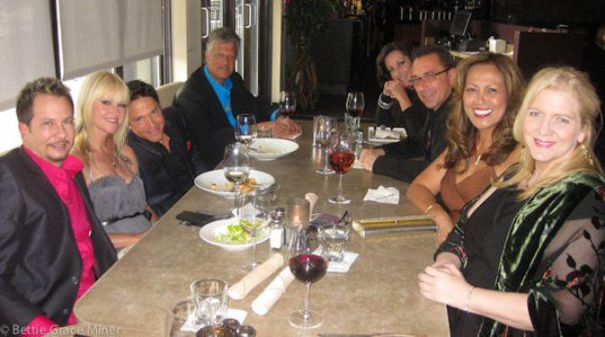 Dinner before the Smooth Jazz Awards with (L-R) GMH, Mindi Abair, Dave Koz, Paul Brown, Jacqui Brown, Brian Simpson, Sylvia Ronahan, Bette Miner